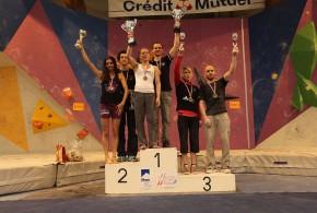 Podium des championnats de France de bloc