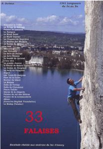 Topo falaise - 33 Falaises de la région d'Annecy -