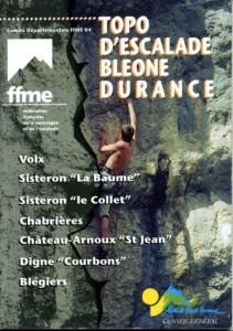 Topo falaise - Topo d'escalade Bléone Durance -