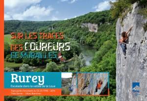 Topo falaise - Rurey, escalade dans la vallée de la Loue -