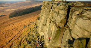 Falaise de Peak District (Stanage) -