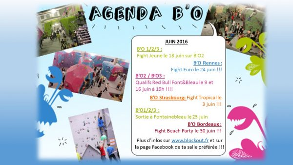 Agenda B'O Juin 2016
