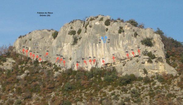 Col du Roux - Falaise escalade