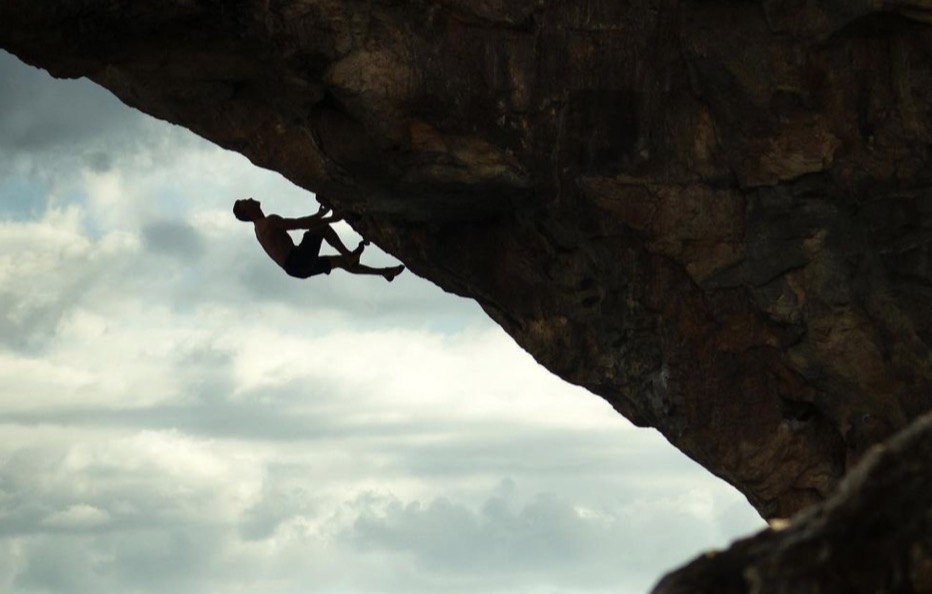 "Jakob Schubert at the top of ""Es Pontas""!  Planetgrimpe"